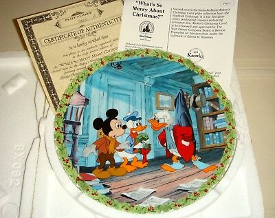 MICKEYS CAROL Scrooge McDuck Mickey Donald WHATS SO MERRY ABOUT CHRISTMAS? Plate