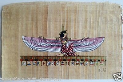 Papyrus Painting From Egyptian Art Caravan of Isis the powerful goddess