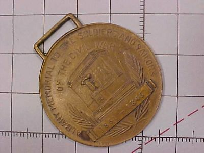 Original Antique Albany Civil War Soldier Sailor Memorial Watch Fob