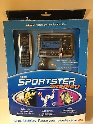 Sirius Sportster Replay SP-TK2/SP-R2 Satellite Radio New With Car Kit