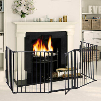 Fireplace Fence Baby Child Safety Fence Hearth Gate Pet Dog BBQ Metal Fire Gate
