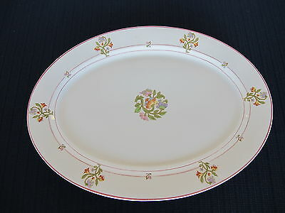 St Albans O P Co Syracuse China 12 inch Platter No RR back stamp Pattern MPRR