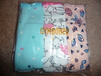 Gymboree Girl underwear Panties dots cats flowers 3 pack size 3T NEW NWT