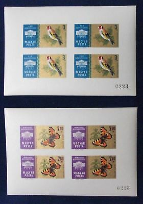 Hungary SC#1396-9 MNH IMPERF S/S 1961 International Stamp Exhibition Set