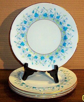 3 Coalport Harebell Turquoise Bread And Butter Plates 5.75""