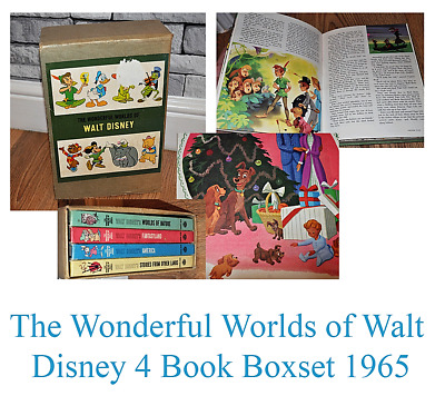 Vintage Collectable The Wonderful Worlds of Walt Disney 4 Book Boxset 1965