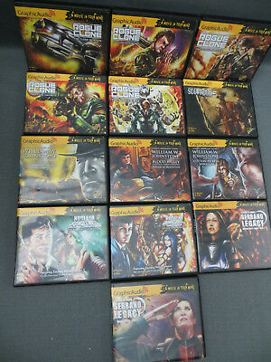 Lot of 13 Mixed Graphic Audio Books ROGUE CLONE NECLEAR BOMBSHELL SERRANO LEGACY