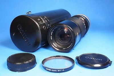 Canon Zoom Lens FD 100-200mm, 1:5.6 w/Case, Caps, Filter