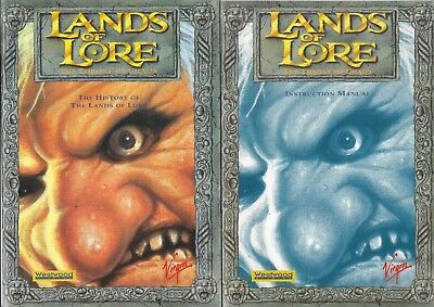 LANDS OF LORE THE THRONE OF CHAOS The History & Instruction Manual Booklets