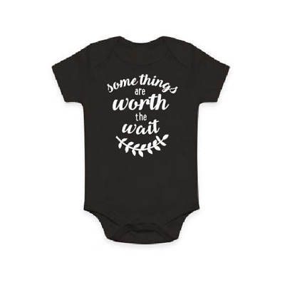 Some Things Are Worth The Wait Baby Bodysuit, Pregnancy Announcement Photo Shoot