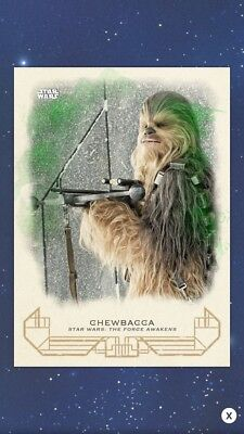 Topps Star Wars Card Trader Galactic Heritage Force Awakens Green Chewbacca