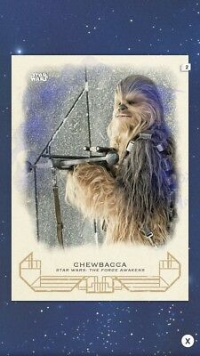 Topps Star Wars Card Trader Galactic Heritage Force Awakens Blue Chewbacca