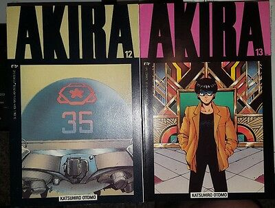 Lot of 2 1989 EPIC Copper Age Manga comics - AKIRA 12 and 13