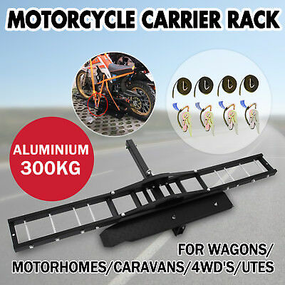300kg Motorcycle Scooter DirtBike Carrier Hauler Hitch Mount Rack Ramp Anti Tilt