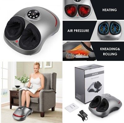 Toes Relieved Shiatsu Foot Massager Machine Automatic Electric Heated Rolling