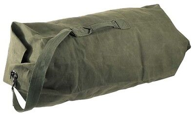"""Canvas Duffle Duffel Bag Top Opening 36"""" with Handle Army Style"""