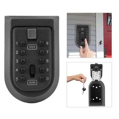 Cabinet Outdoor Spare Key Safe Box Security Holder Case Lock Wall Mounted
