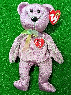 Ty Beanie Baby 2000 SIGNATURE BEAR Plush Toy RARE NEW RETIRED - Free Shipping