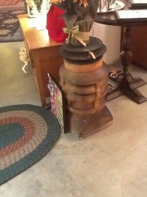 Antique Chimney Pot Cap Top Terra Cotta Clay