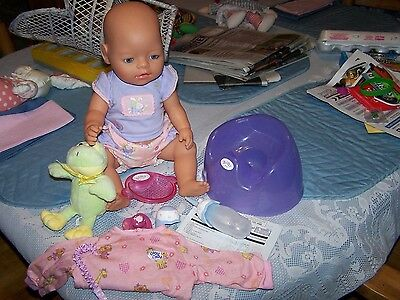 Zapf Baby Born Doll Bottle  Pacifier  Potty Chair Bowl & Instructions