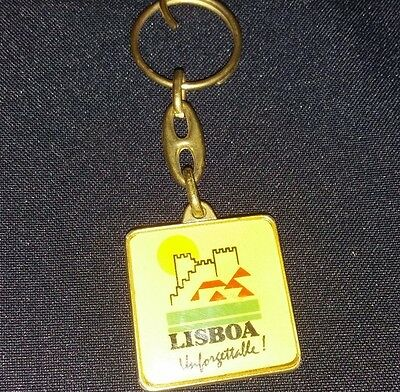 Vintage LISBON CITY COUNCIL Keychain key ring