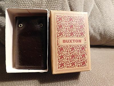 BUXTON KEY-TAINER Vintage 1960's Retro Brown Key Case in Original Box #50322