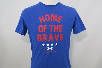 UNDER ARMOUR heatgear CHARGED HOME OF THE BRAVE USA UNITED STATES AMERICA SZ S