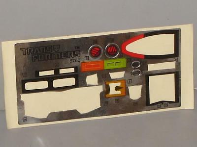 G1 Transformer Autobot Skids Totally Used Sticker/decal Sheet Lot # 1