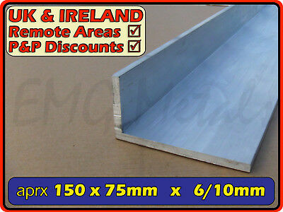 "Aluminium Angle (L section, edging, bracket, alloy,ally) | 6"" x 3"""