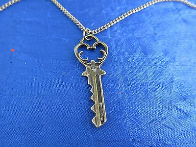 Victorian style Skeleton Key necklace in antique bronze finish