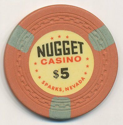 Nugget Casino Sparks Nv 1St Issue $5 Chip Zigzag Mold 1955