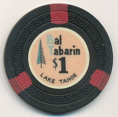 Bal Tabarin North Lake Tahoe $1 Casino Chip 1955