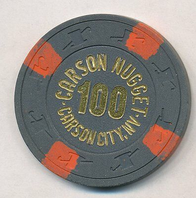 Carson Nugget Carson City $100 NCV (no cash value) chip not listed