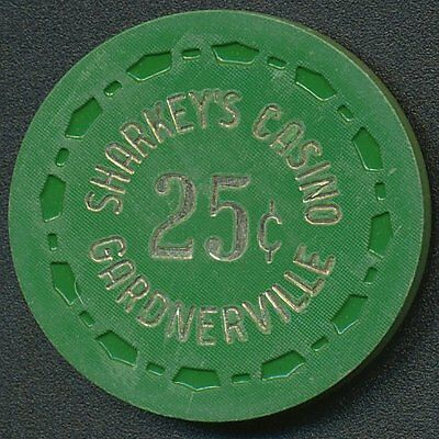 Sharkey's Casino Gardnerville 1st Issue $.25¢ Chip R6