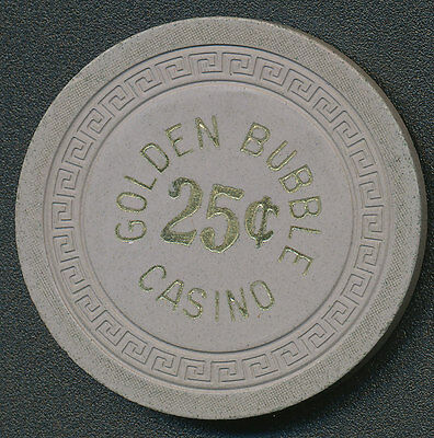 Golden Bubble Casino Gardnerville NV 1st Issue $.25 Cent Chip 1945