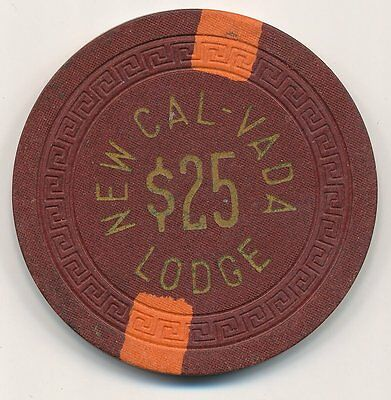 Cal Vada Lodge Lake Tahoe 3rd Issue $25 Chip 1951 R6