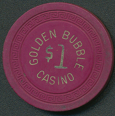 Golden Bubble Casino Gardnerville NV 1st Issue $1 Chip 1945