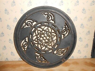 Antique Vintage Victorian Art Piece – Old Cast Iron Decorative Flue Surround