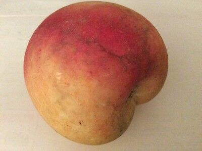 Vintage Italian Alabaster Stone Large PEACH Fruit Hand Carved, Italy
