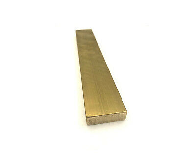 """Brass Flat Bar Stock 1/8"""" x 1"""" x 6"""" Knife Making handle bolster 360 Extruded"""