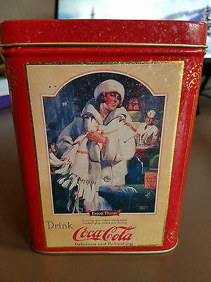 Vintage Coca Cola / Coke Square Advertising Metal tin 1994 Drink of all the year