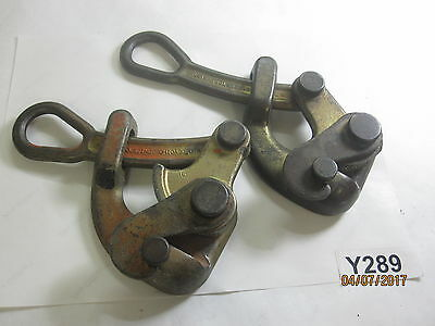 2 QTY Vintage KLEIN TOOLS 1604-20L Haven Grp, Forged Stl, Latch, .125-.50 Cabl