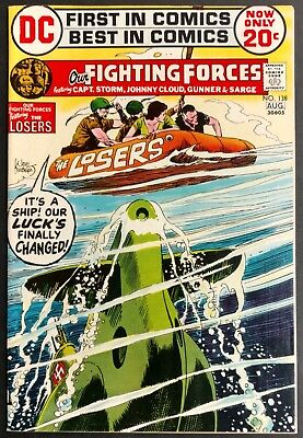 Our Fighting Forces #138 1972 Sharp F/vf The Losers Heath,joe  Kubert Cover