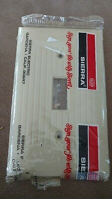 NOS single Vintage WIDE RIBBED ivory light switch cover plate Sierra