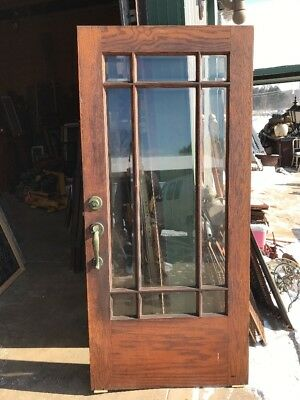 An 430 Antique Beveled Glass Townhouse Entry Door 36 X 78.75
