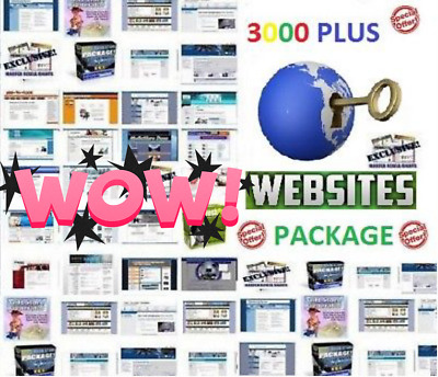 BEST DEAL 3000 Plus Turnkey Website Scripts PACKAGE Fast Free Instant Shipping!