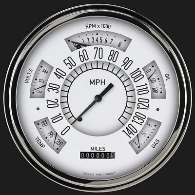 White 1949-50 Chevy ClassicLineGauge - Classic Instruments - CH49W