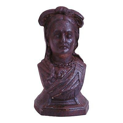 Lovely Vintage Chic 19th Century French Cast Iron Female Bust
