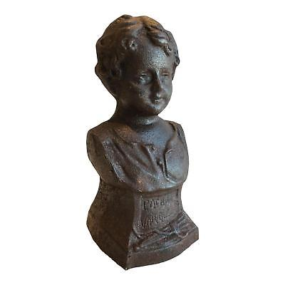 Charming Stunning Chic Antique French Cast Iron Lady Bust