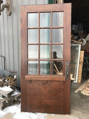 An 438 Antique Arts And Crafts Entrance Door Refinished 41.5 X 89.5